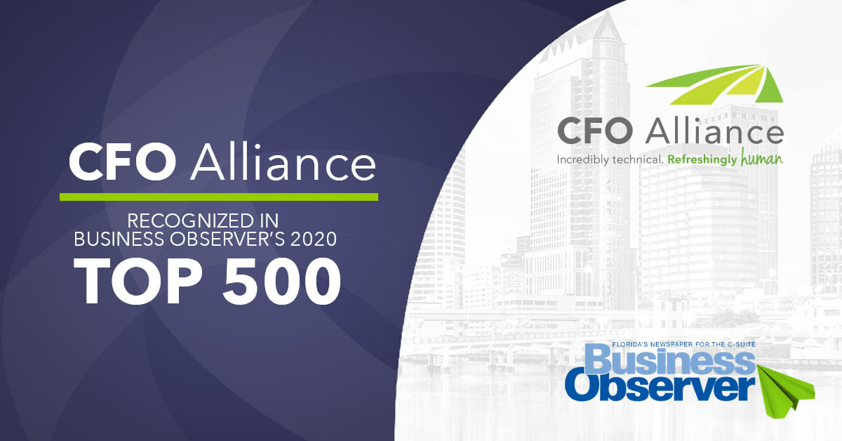 CFO Alliance Business Observer 2020 Top 500